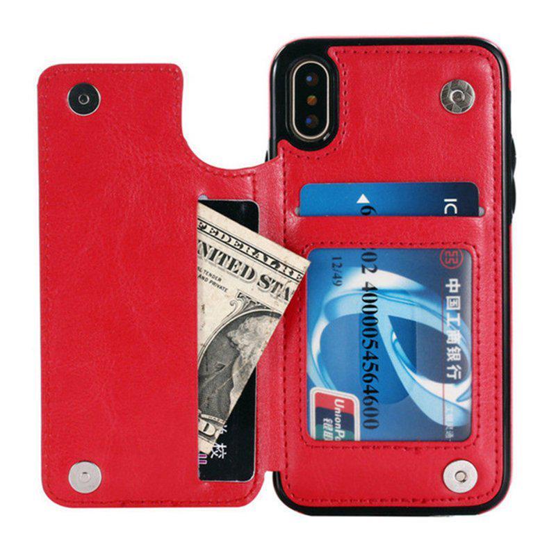 Роскошный ретро кожаный флип бумажник книга стиль телефона чехол для iPhone X 8Plus 6 7 Samsung Galaxy Note