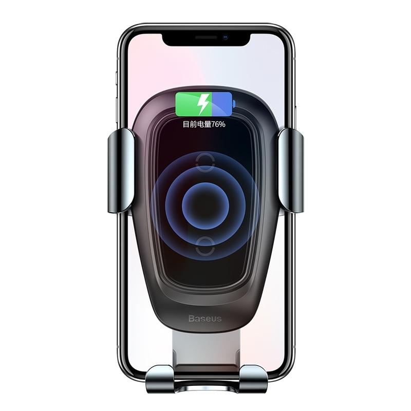 Фото - Автомобильный держатель с беспроводной зарядкой Baseus Metal Wireless Charger Gravity автомобильная беспроводная зарядка держатель с сенсорным датчиком smart sensor car wireless charger r1