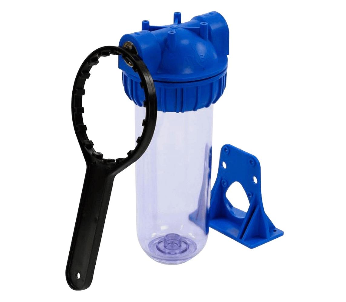 Корпус прозрачный для холодной воды 10 SL - резьба 3/4, АКВАПРО 418