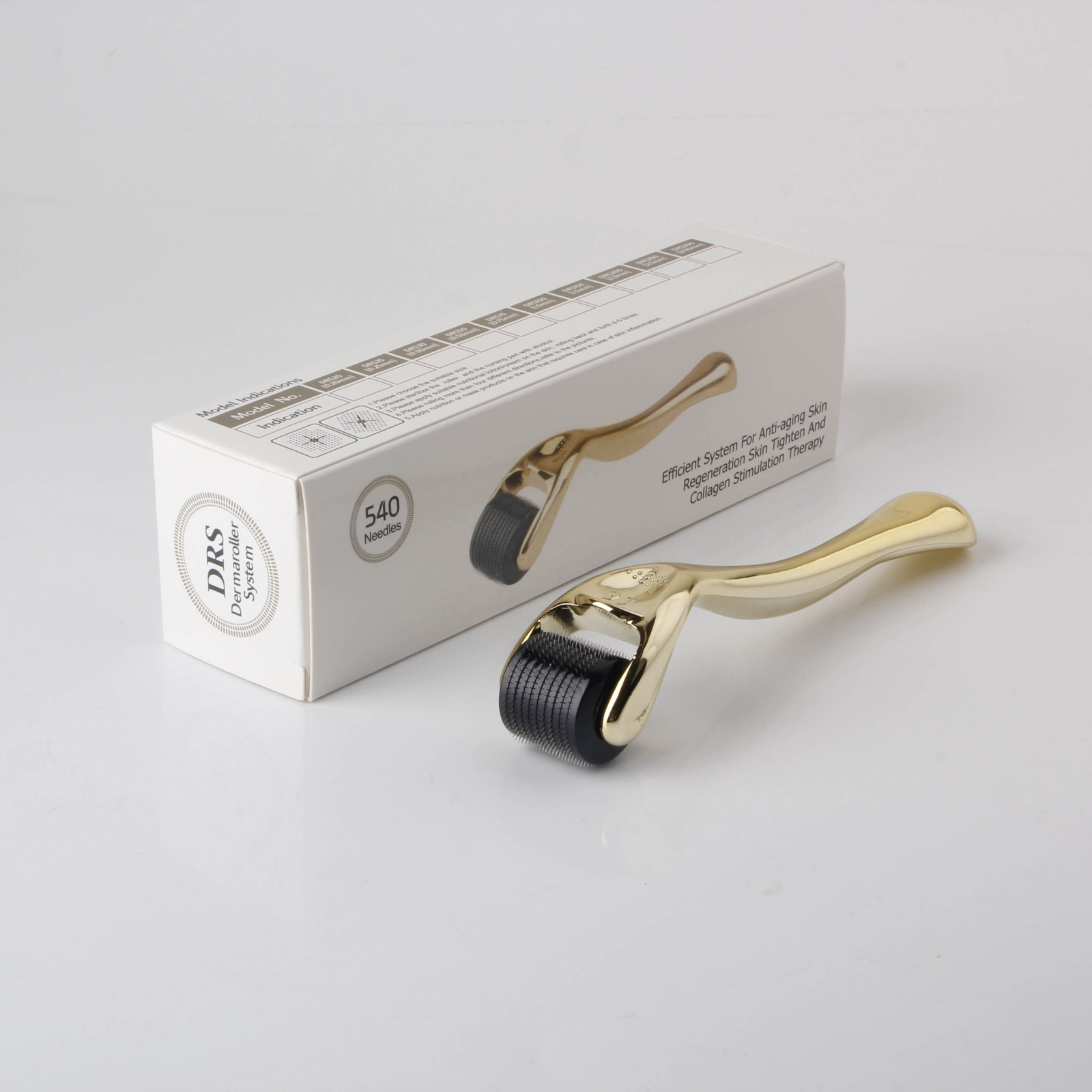 Мезороллер DRS DRS50 540 Gold DermaRoller Золотой 540 игл длиной 0.5 мм МР368