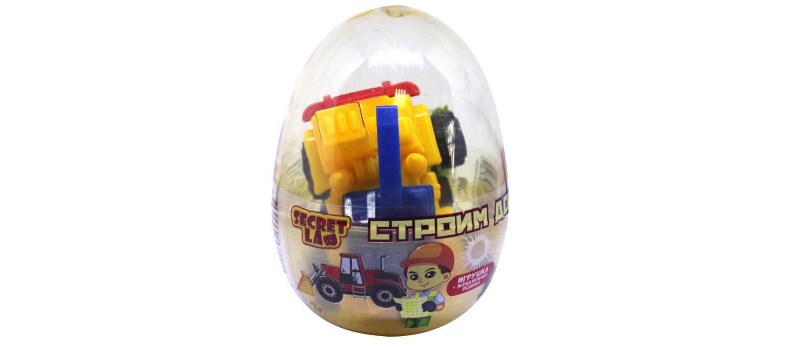 Строим дом игрушка и жевательная резинка со вкусом апельсина 7г