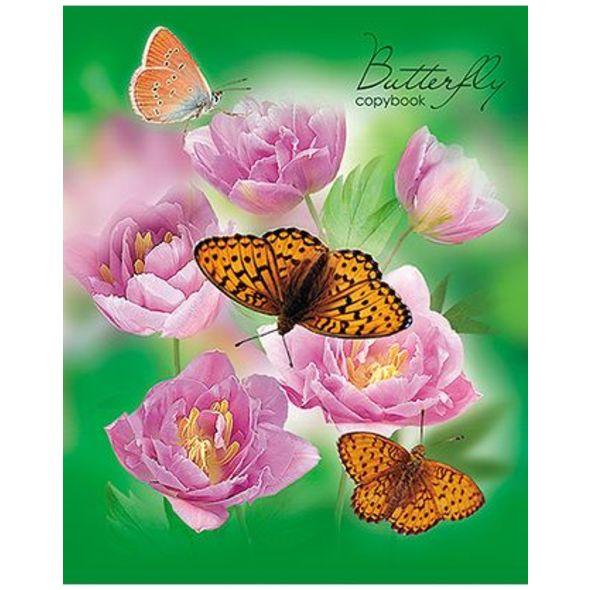 Тетрадь HATBER Бабочки с цветами 48 листов в клетку формат А5, 10 ШТ тетради hatber тетрадь вояж а5 48 листов