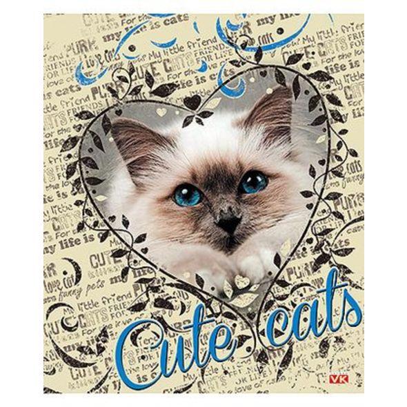Тетрадь HATBER Милые Котята 48 листов в клетку формат А5, 10 ШТ 5 обложек тетради hatber тетрадь вояж а5 48 листов