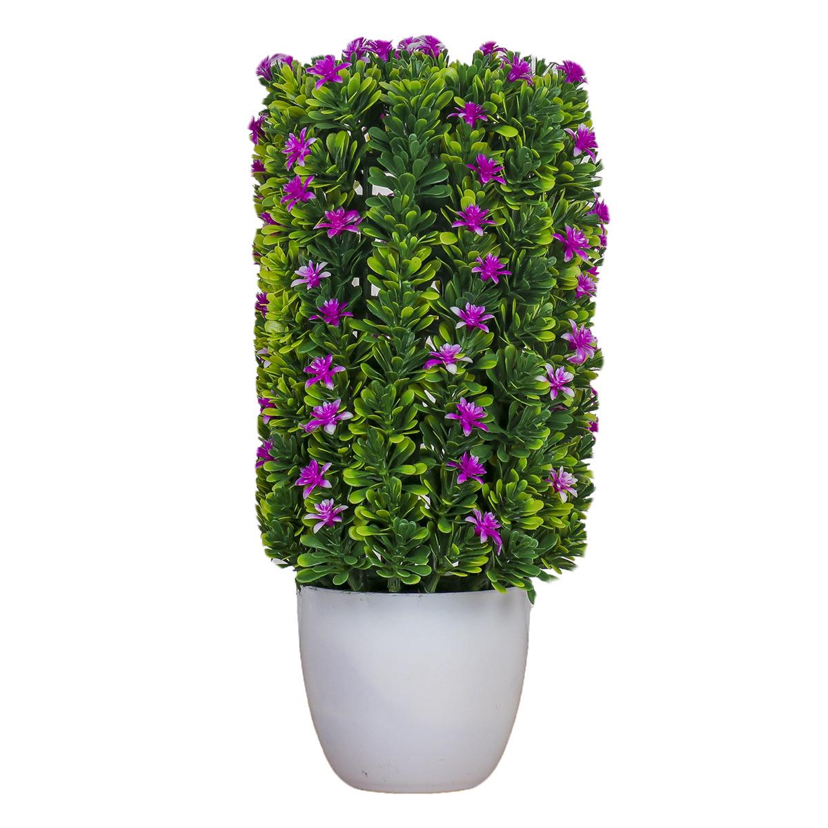 """Бонсай """"Высокий куст с цветами"""", 3792281, зеленый, розовый"""