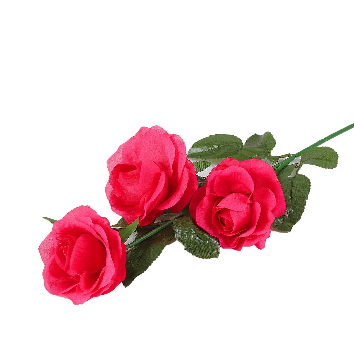 Искусственные цветы Роза Жанна, 2578227, малиновый, 61 см