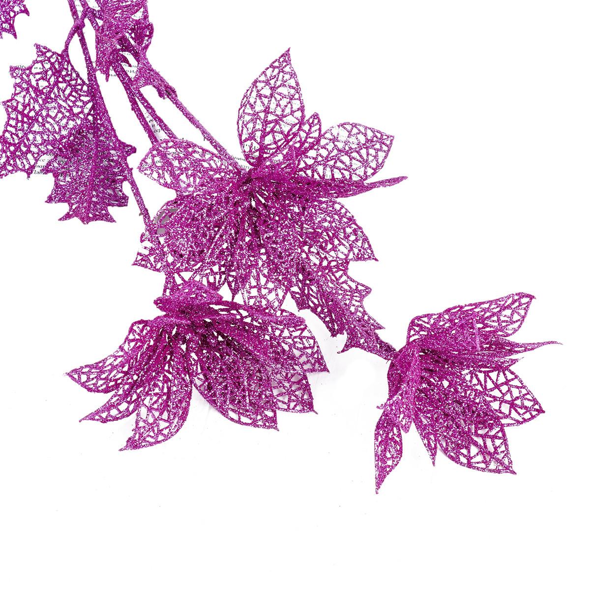 Искусственные цветы Букет резных цветов, 1382036, розовый, 75 см