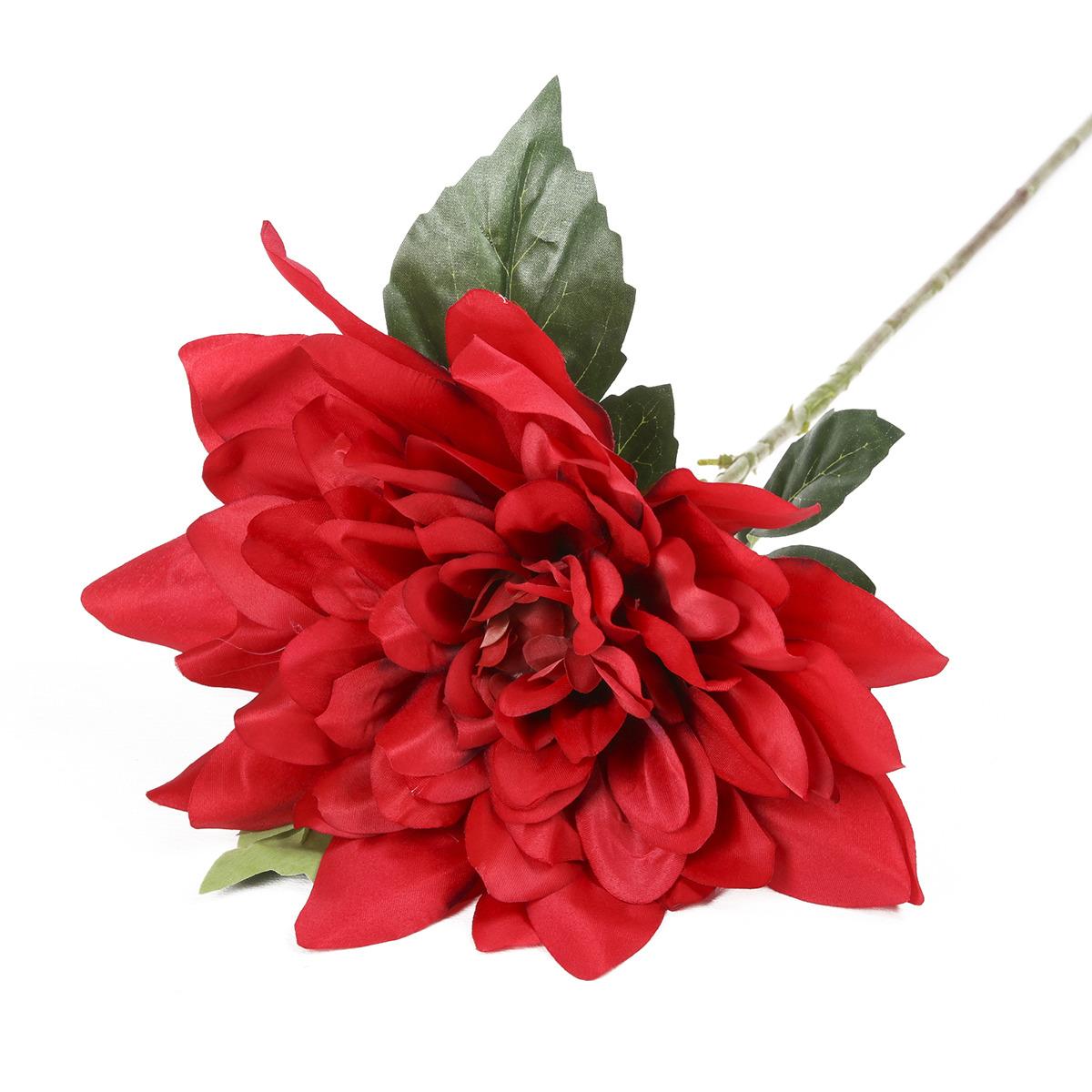 Искусственные цветы Астра люкс, 3544337, бордовый, 70 см