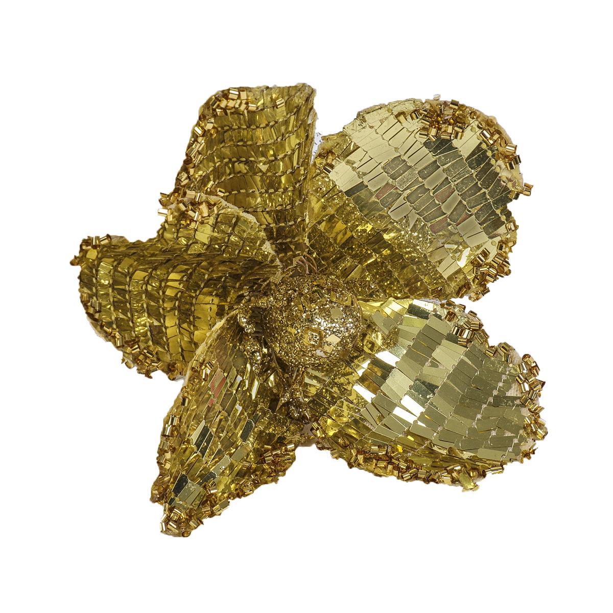 """Украшение декоративное """"Блеск"""", 1381129, золотистый, 17 х 10 см"""