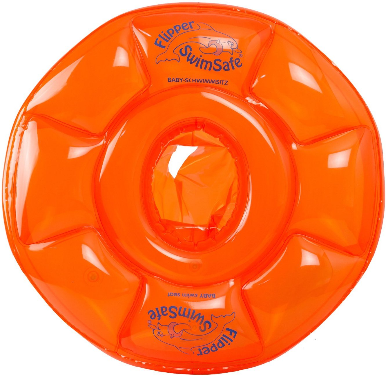 Круг надувной для плавания Flipper SwimSafe 62-см с сиденьем детский, c 3 до 12 мес