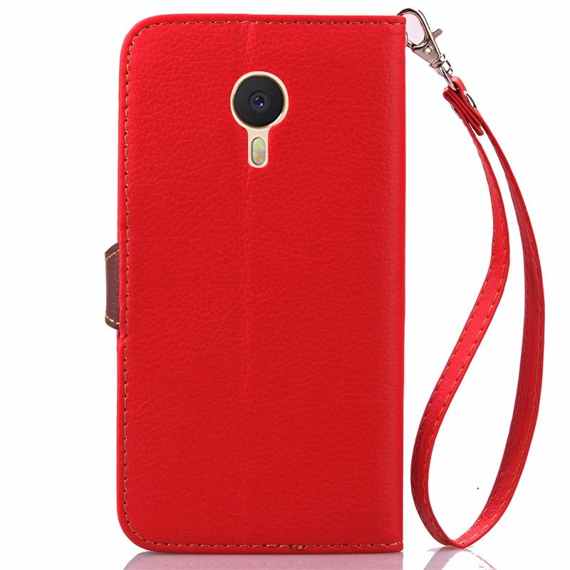 Кожаный чехол с магнитным замком и ремешком для Meizu M3 Note красный чехол для meizu m3 note gecko flip красный