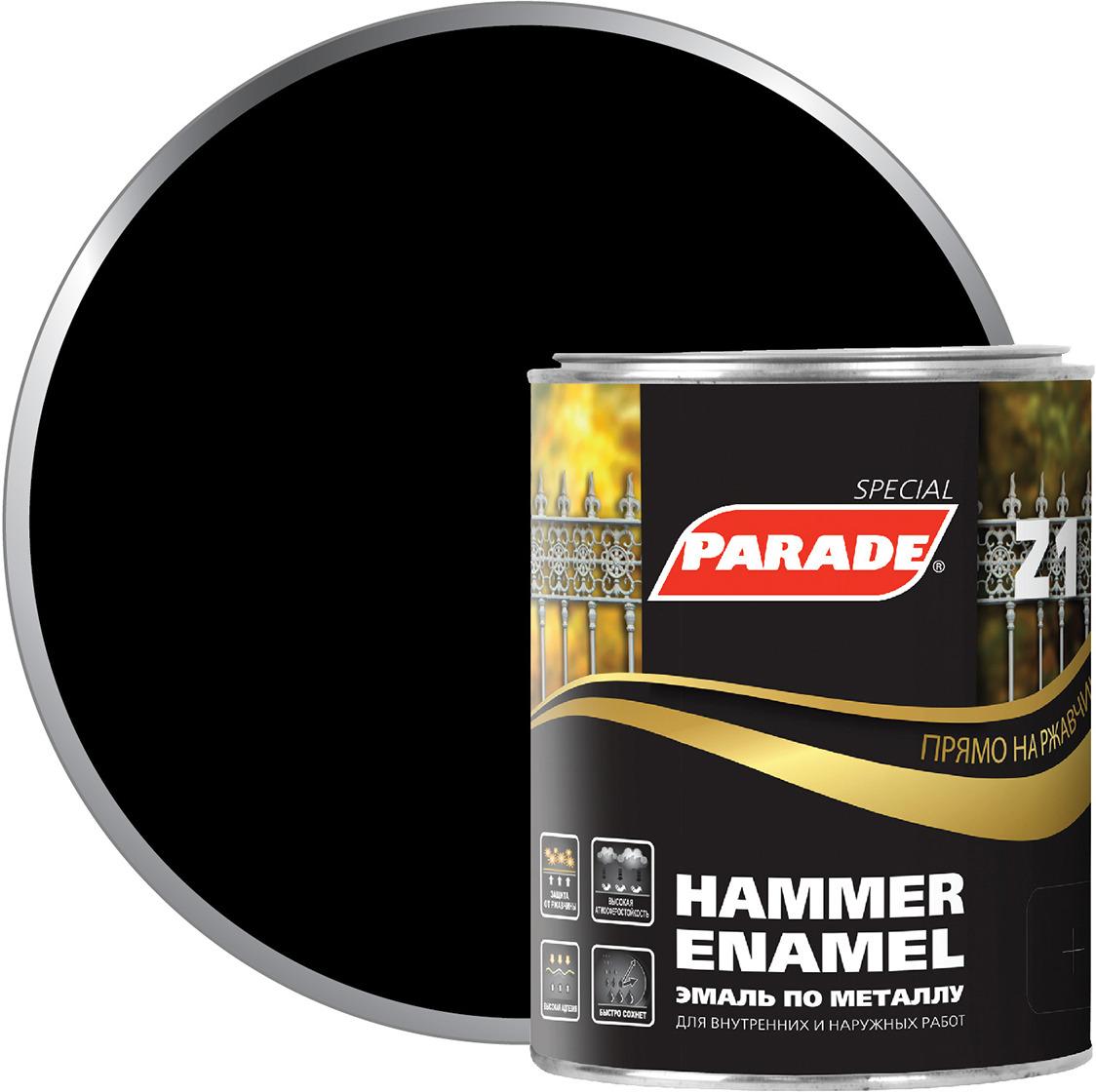 Фото - Эмаль по металлу Parade Z1, гладкая, RAL 9005 черный, 750 мл финишный гвоздь swfs свфс din1152 1 8х40 25кг тов 041025