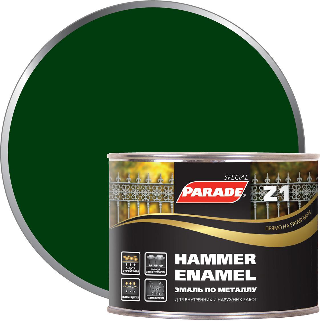Фото - Эмаль по металлу Parade Z1, гладкая, 543-188 темно-зеленый, 450 мл финишный гвоздь swfs свфс din1152 1 8х40 25кг тов 041025