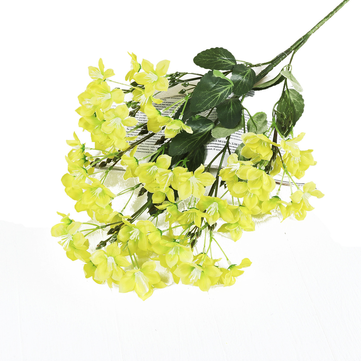 Искусственные цветы Стефанотис, 3562523, желтый, 70 см