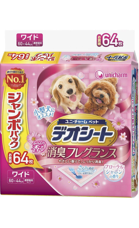 Пеленки UNICHARM для животных 44х60 см с цветочным ароматом, 64 шт.