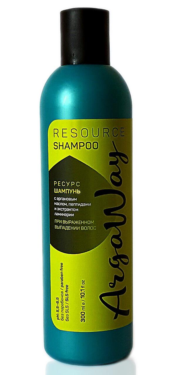 Шампунь для волос Argaway от выпадения волос с аргановым маслом, пептидами и экстрактом ламинарии 300 мл шампунь для волос argaway косметика 330