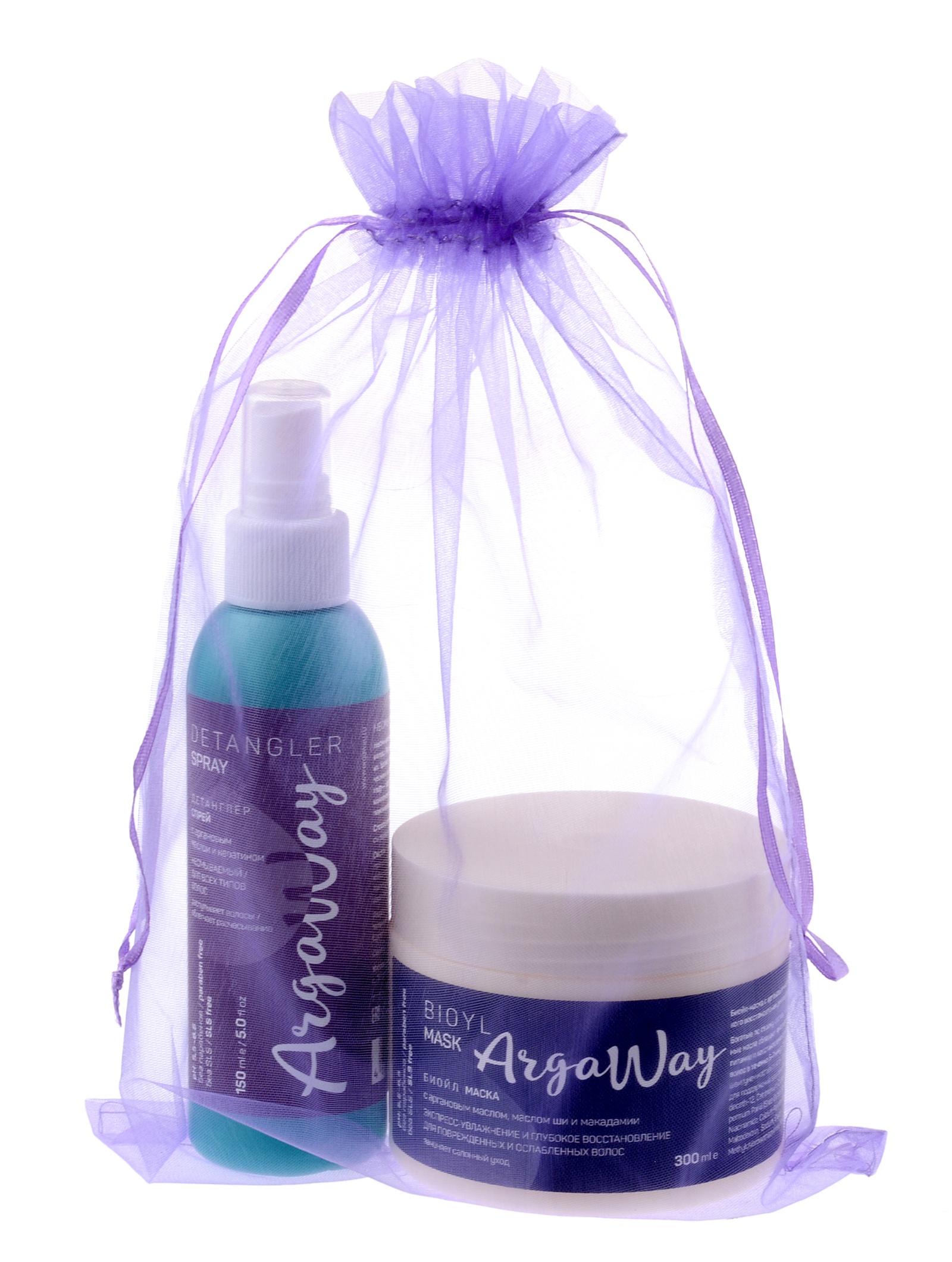 Косметический набор для волос Argaway маска + спрей шампунь для волос argaway косметика 330