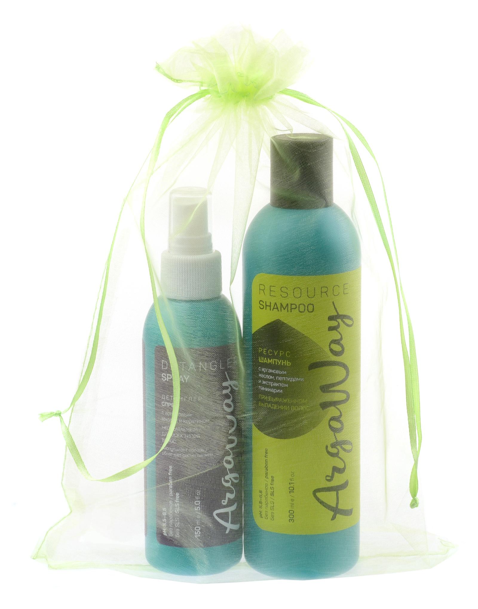 Косметический набор для волос Argaway шампунь + спрей шампунь для волос argaway косметика 330