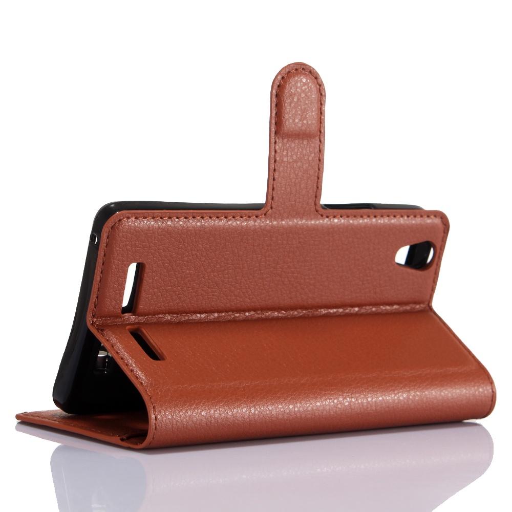Кожаный чехол с флип-функцией и слотами для карт Магнитная крышка для ноутбука Lenovo K10 (k10e70) (коричневый)