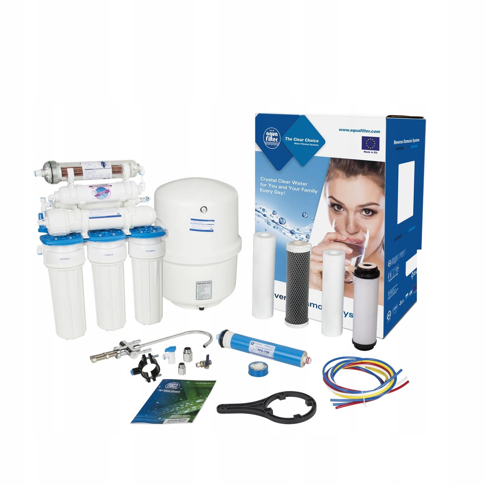 Семиступенчатая система обратного осмоса, комплексная очистка, удаление вирусов и бактерий Aquafilter RX75259516, 520