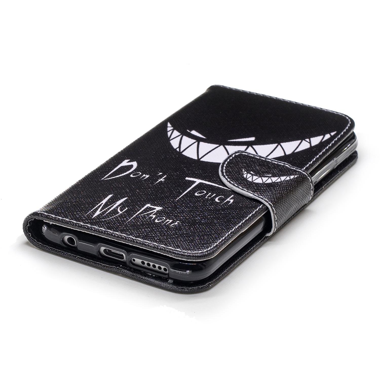 Флип-чехол черного цвета с белым принтом для HUAWEI HONOR 10 телефон