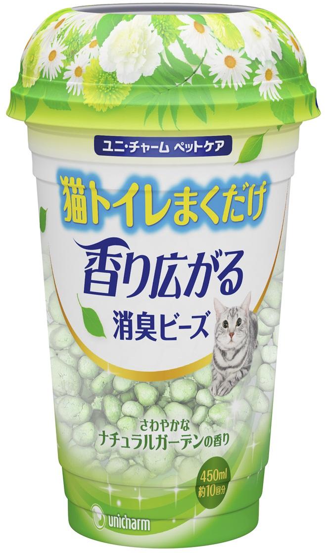Шарики дезодорирующие UNICHARM для кошачьего туалета, растительный запах, 450 мл. шарики дезодорирующие для кошачьего туалета unicharm мягкий мыльный запах 450 мл