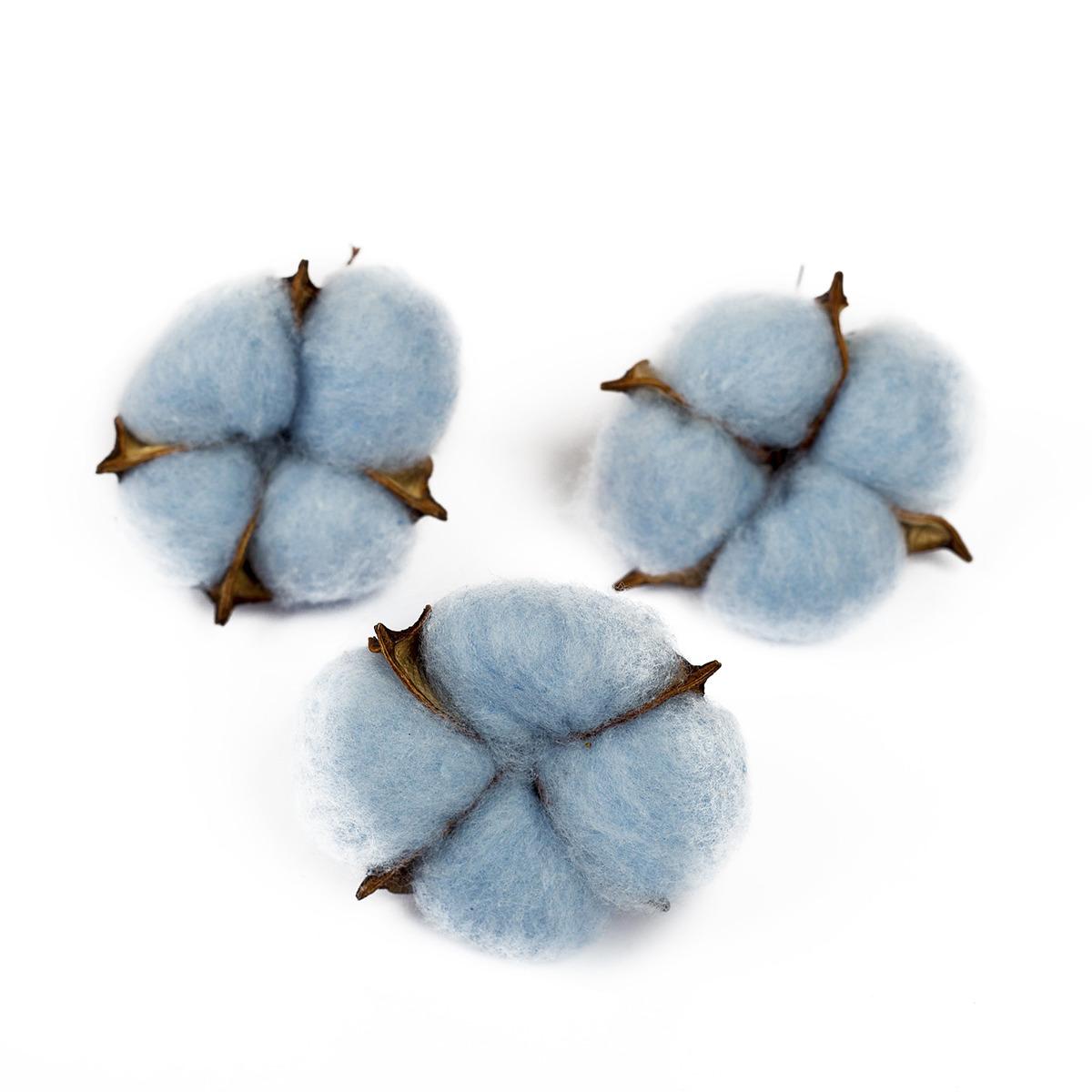 сухие бассейны Сухие цветы хлопка, 4104737, голубой, 3 шт