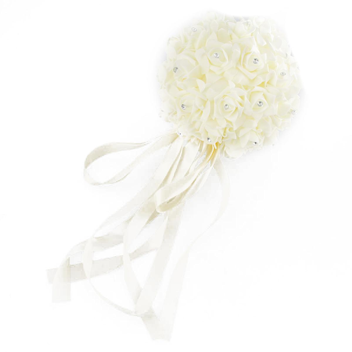 """Свадебное украшение """"Шар"""", 2712292, бежевый, 45 х 23 х 23 см"""