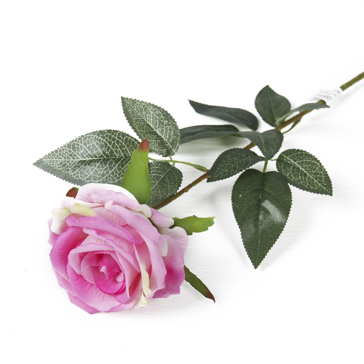 Искусственные цветы Роза Ариозо, 3110195, розовый, 70 см