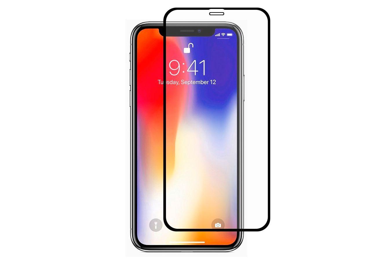 Защитное стекло Grand Full Glue на Apple iPhone X/XS, черный