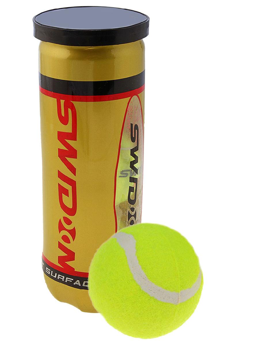 Мяч для большого тенниса Swidon 989, 579183, разноцветный, 3 шт
