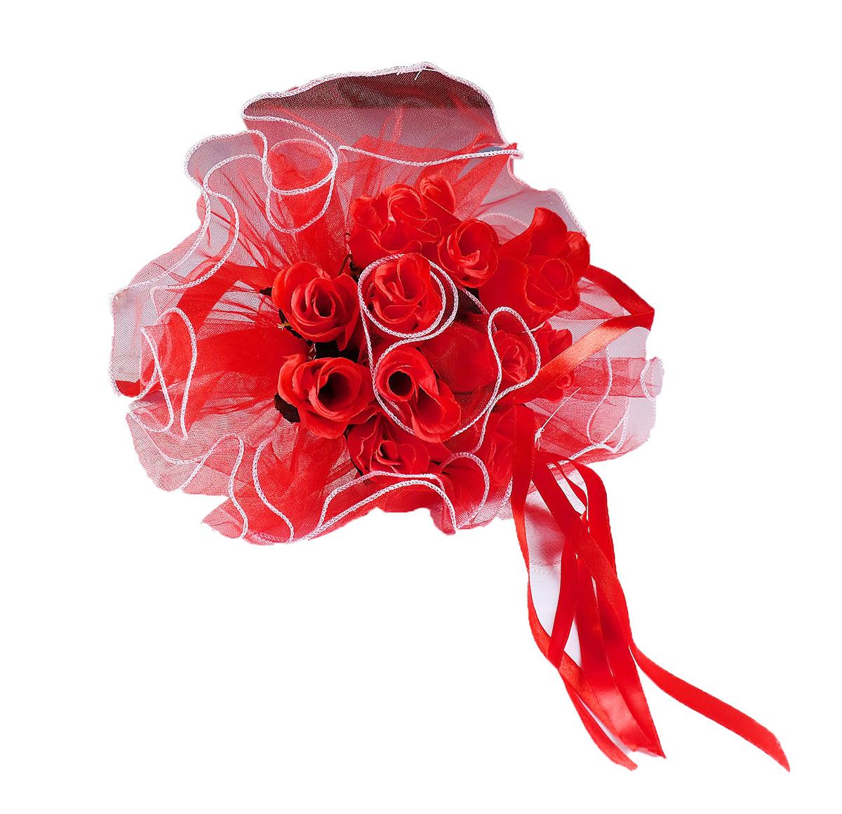 """Букет невесты """"Каприз"""", 4366994, красный"""
