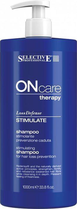 Шампунь для волос Selective Professional On Care Hair Loss Stimulate Shampoo Стимулирующий, предотвращающий выпадение, 1 л алкоголь и выпадение волос