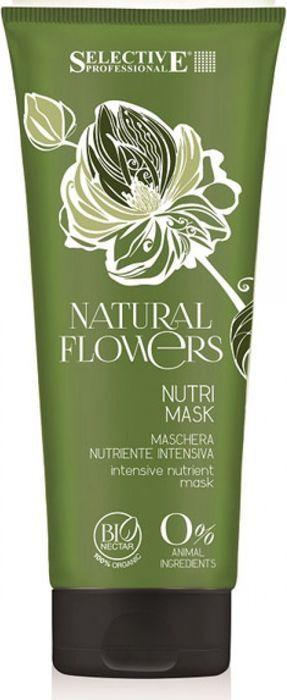 Маска для волос Selective Professional Natural Flowers Nutri Mask, питательная, для восстановления, 200 мл