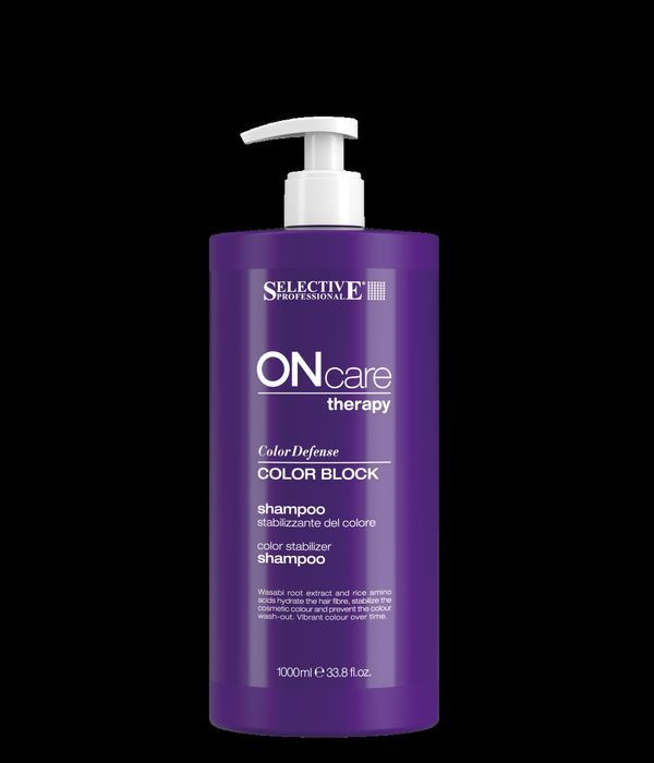 Шампунь для волос Selective Professional On Care Color Care Block Shampoo, для стабилизации цвета, 1 л