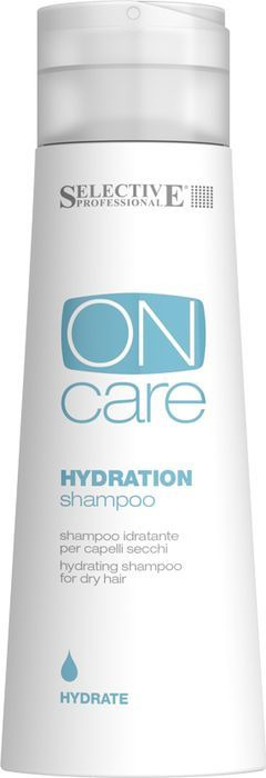 Шампунь для волос Selective Professional On Care Hydration Shampoo Увлажняющий, для сухих волос, 250 мл selective professional hydration shampoo шампунь увлажняющий для сухих волос 1000 мл
