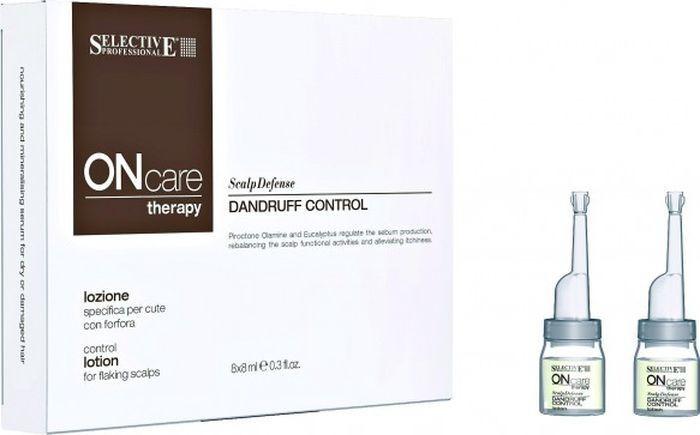 Лосьон для волос Selective Professional On Care Rebalance Dandruff Control Lotion Специальный, от перхоти, 8 мл х 8 шт цена 2017