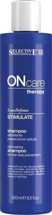 Шампунь для волос Selective Professional On Care Hair Loss Stimulate Shampoo Стимулирующий шампунь, предотвращающий выпадение, 250 мл алкоголь и выпадение волос