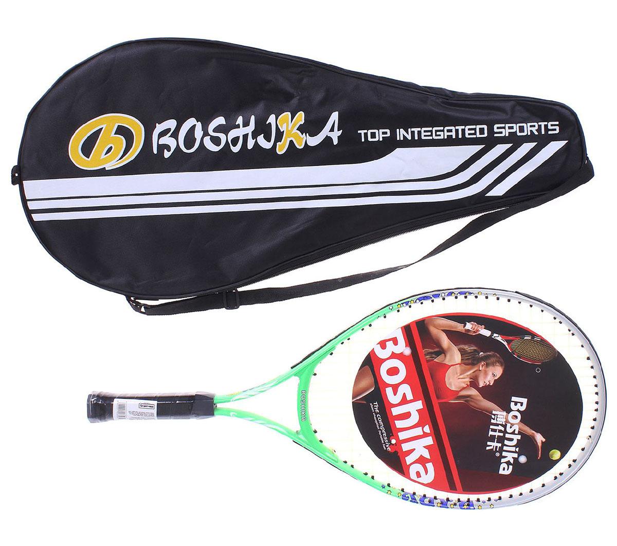 Ракетка для большого тенниса детская Boshika, 1526565, зеленый