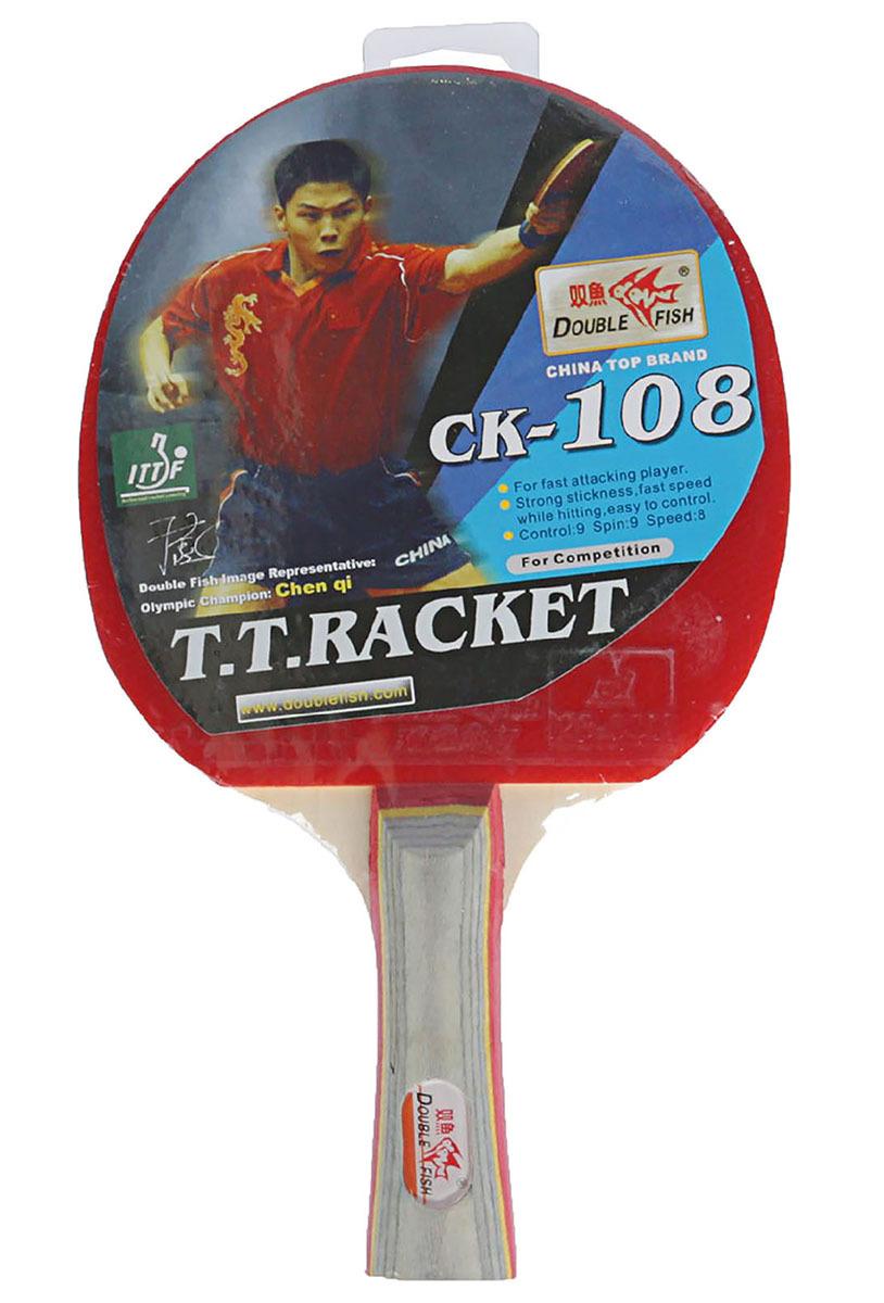 Ракетка для настольного тенниса Double Fish 108, 2564523 ракетка для настольного тенниса donic testra pro