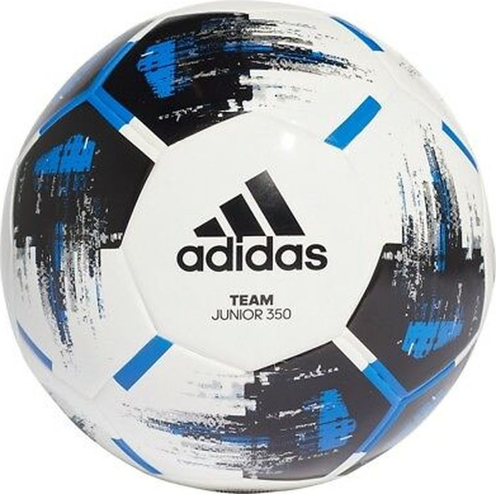 Мяч футбольный Adidas Team J350, CZ9573, белый, синий, размер 5 мяч футбольный adidas conext19 cpt dn8640 белый красный размер 5