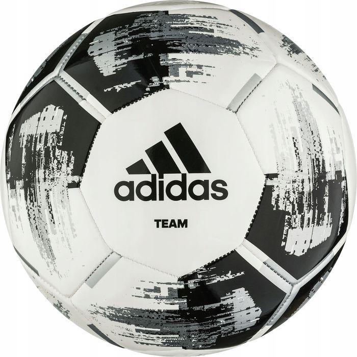 Мяч футбольный Adidas Team Glider, CZ2230, белый, черный, размер 3 мяч футбольный adidas real madrid fbl cw4156 белый серый размер 3
