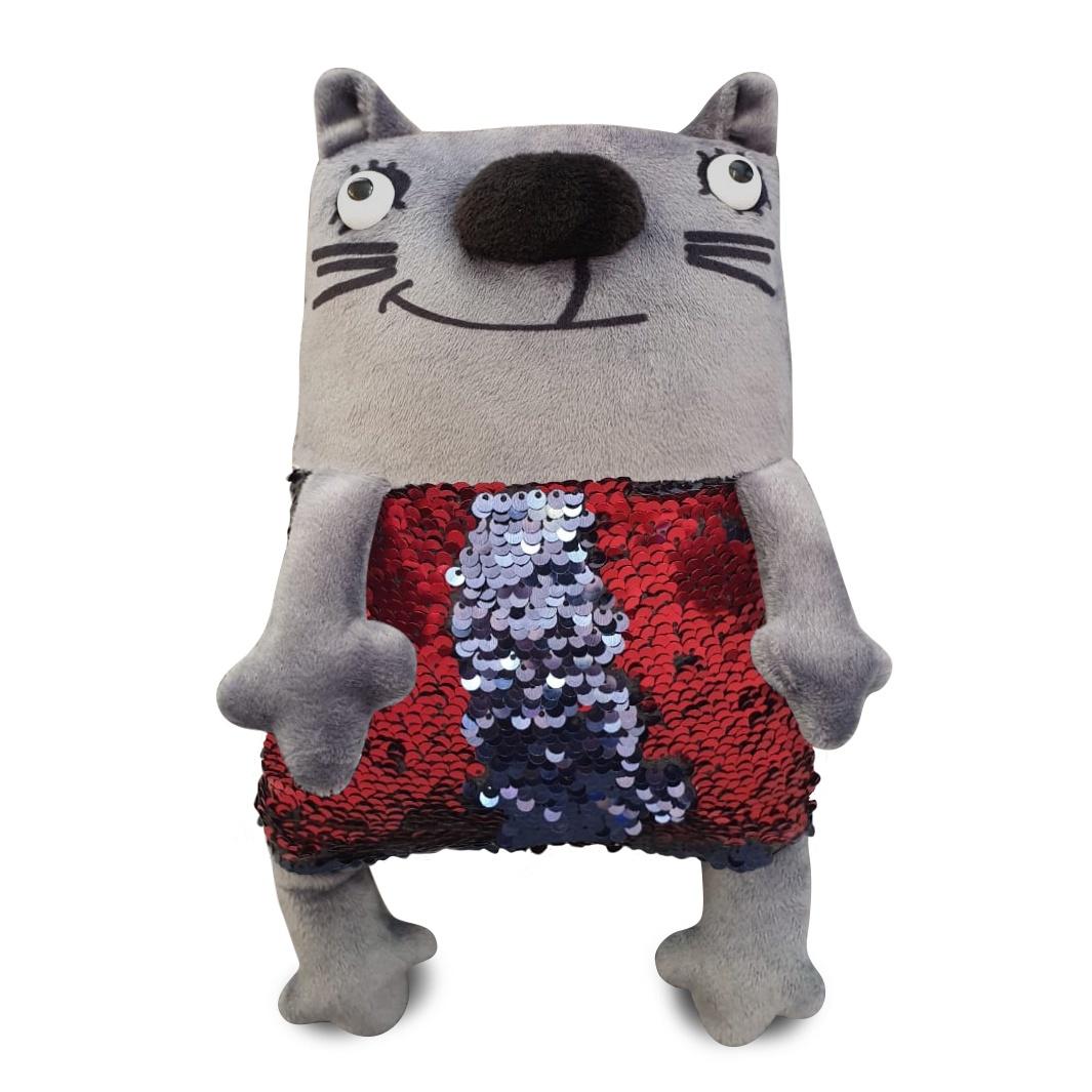Мягкая игрушка Котик Мини Диско 27см с пайетками