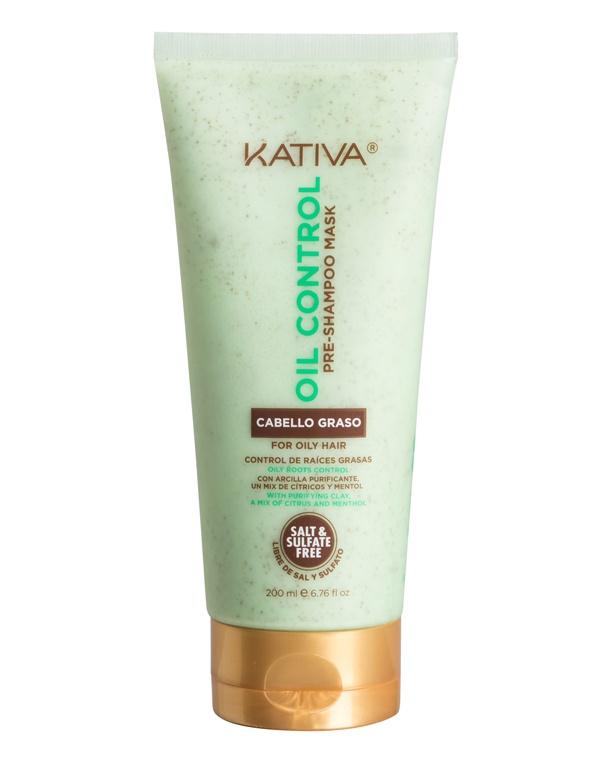 Маска Kativa Oil Control Контроль для жирных волос перед мытьем шампунем, 200 мл Kativa