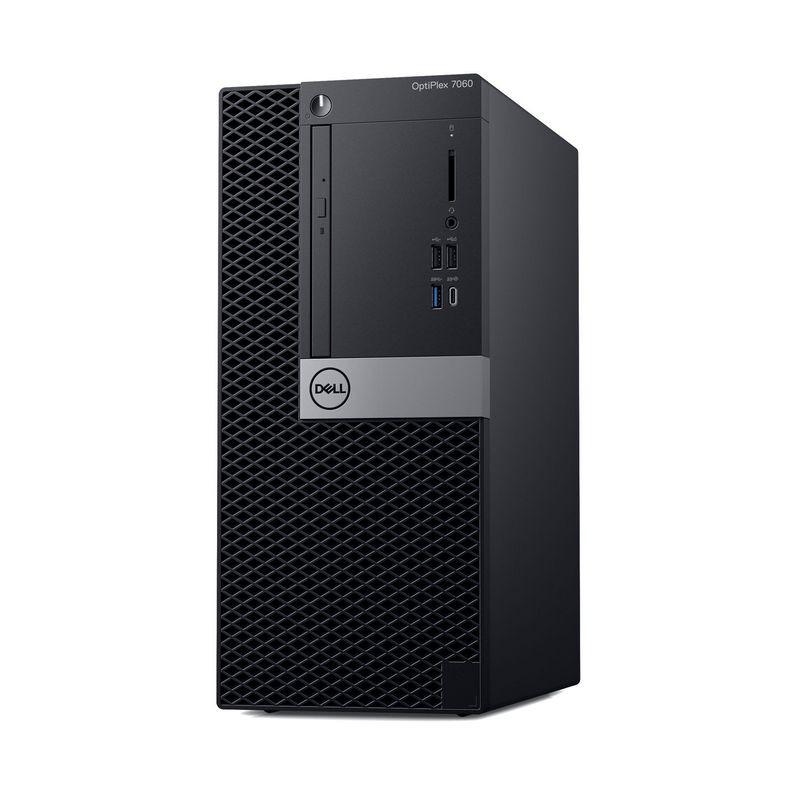 Системный блок Dell Optiplex 7060 МТ, 7060-7694, черный, серебристый системный блок dell optiplex 7060 sff 7060 7717 черный серебристый