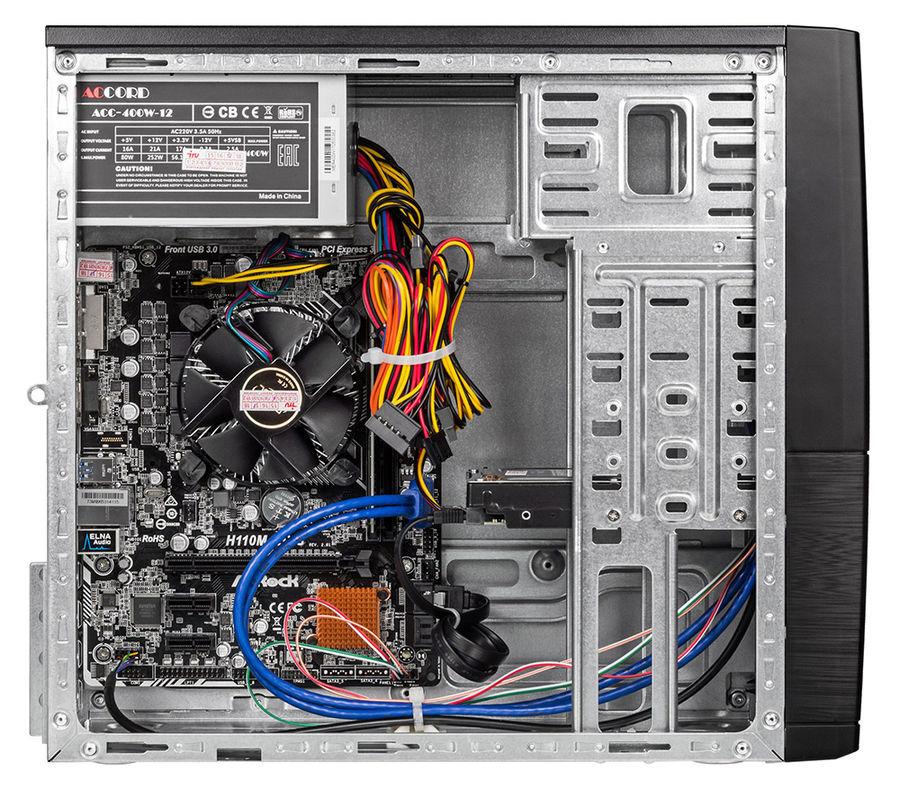 Системный блок IRU Office 313 MT, 1066657, черный iRU