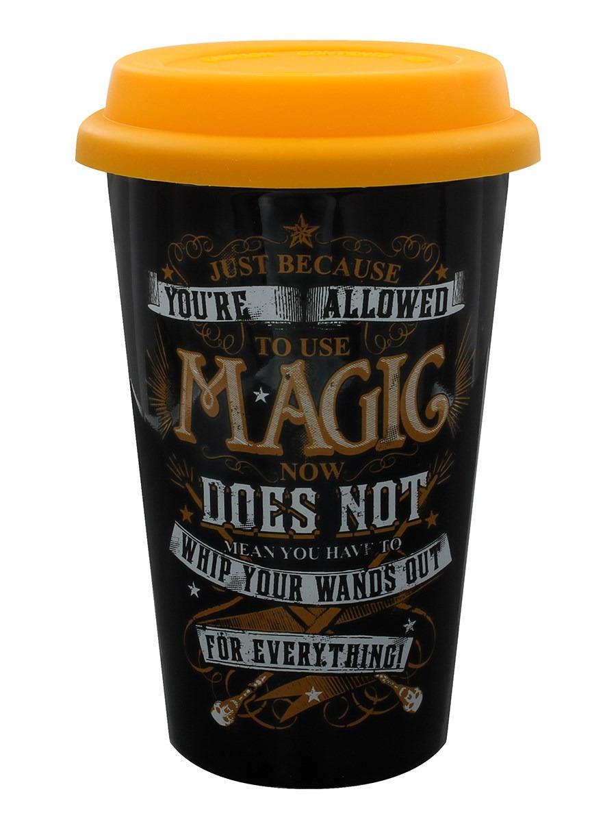 Кружка дорожная Pyramid Harry Potter Magic, MGT25010, черный, 340 мл