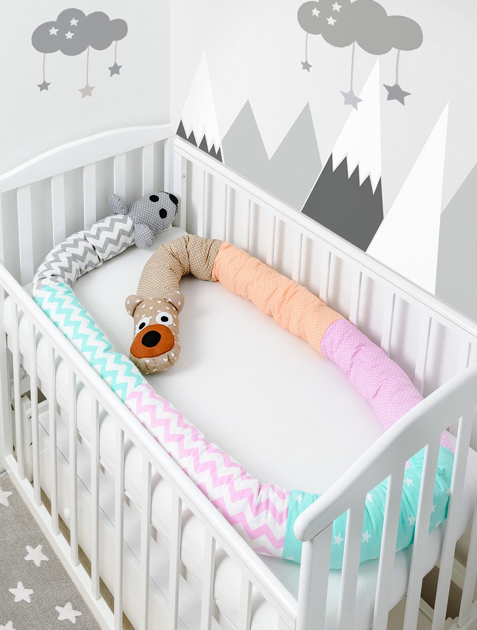 Бортик в кроватку Pillolu Мишка и Мышь (микс)
