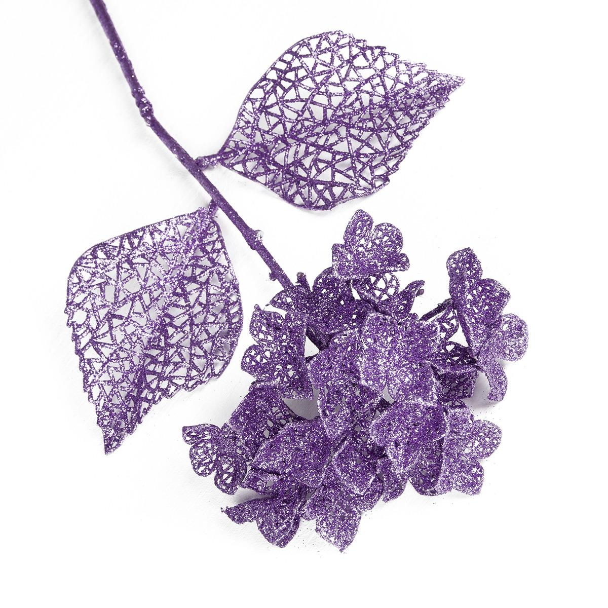 Искусственные цветы Сияние Шар, 3533293, сиреневый, 64 см