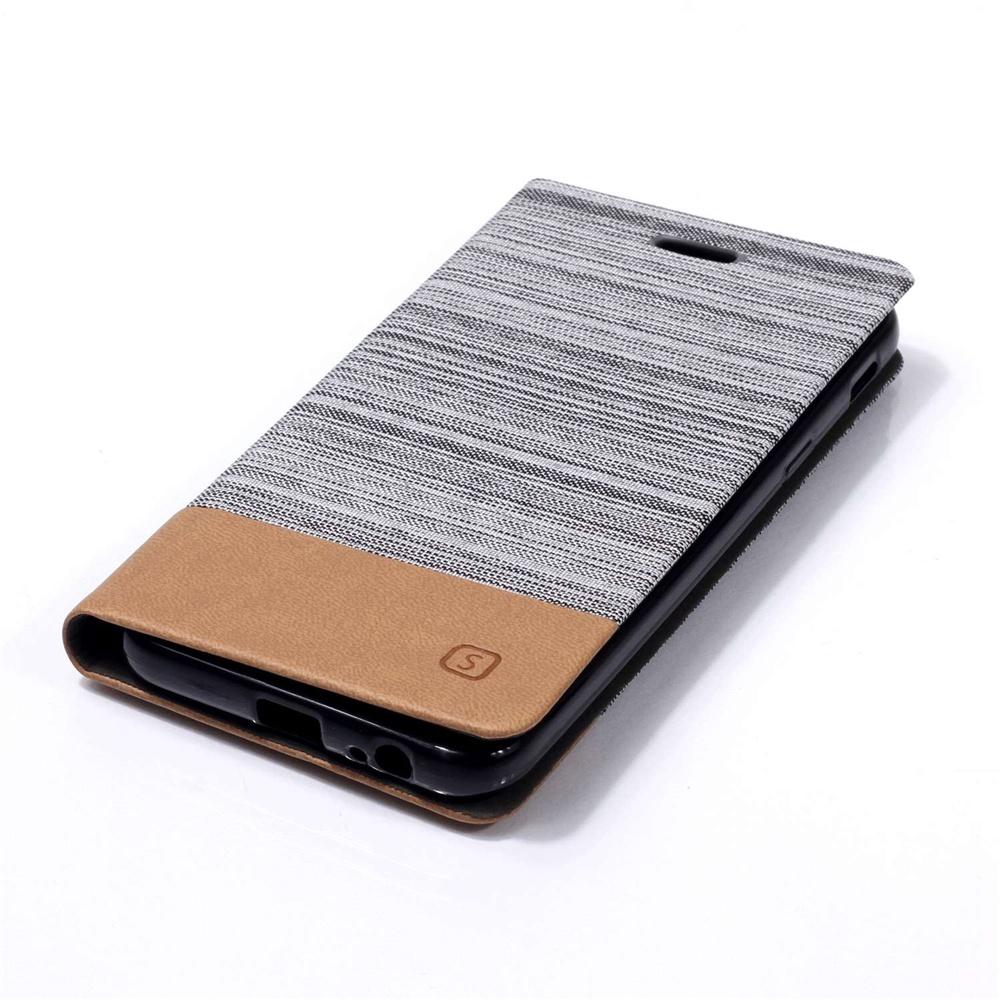 Кожаный чехол с отделением для карт Samsung Galaxy J6