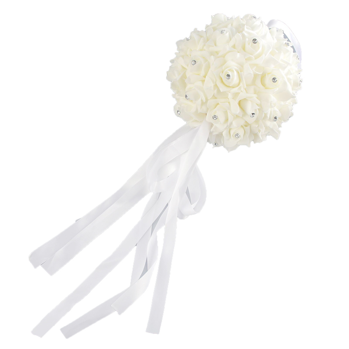 """Свадебное украшение """"Шар"""", 2712291, белый, 45 х 23 х 23 см"""